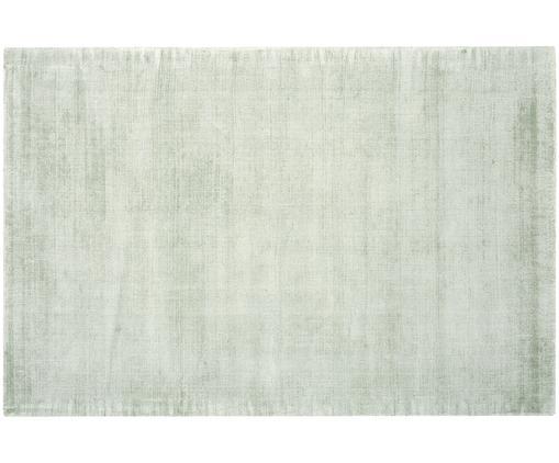 Tappeto in viscosa tessuto a mano Jane, Retro: 100% cotone, Verde menta, Larg. 200 x Lung. 300 cm (taglia L)