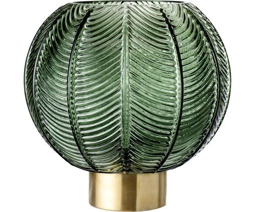 Wazon z mosiężną podstawą Mickey, Wazon: zielony, transparentny Cokół: mosiądz, Ø 20 x W 21 cm
