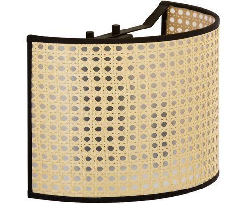 Wandleuchte Vienna, Lampenschirm: Kunststoff, Lampenschirm: Beige, SchwarzLampengestell: Mattschwarz, 30 x 20 cm