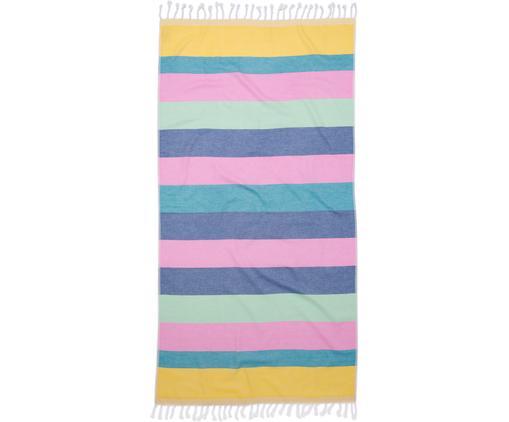 Hamamtuch Holidays, Baumwolle, leichte Qualität, 210 g/m², Gelb, Blau, Pink, Grün, Violett, 90 x 180 cm