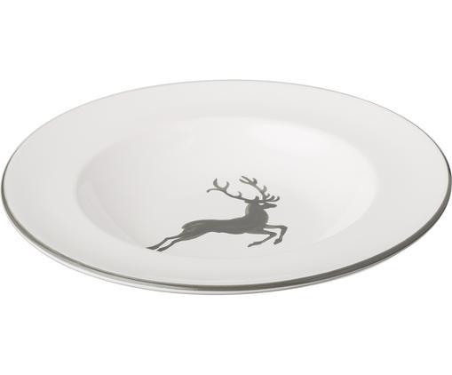 Assiette creuse Gourmet Grauer Hirsch, Gris, blanc