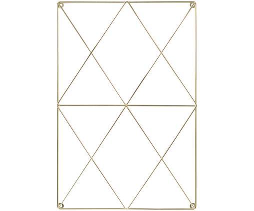Gitter-Pinnwand Hexagon, Metall, beschichtet, Messingfarben, 40 x 60 cm