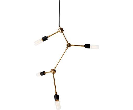 Lampada a sospensione retrò Franklin, Ottone, Ottone, Ø 56 x Alt. 56 cm