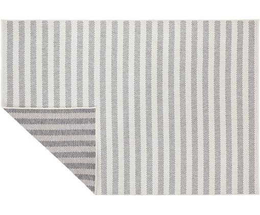 In- und Outdoor Wendeteppich Delilia in Grau/Creme, gestreift, Polypropylen, Grau, Creme, B 200 x L 290 cm (Größe L)