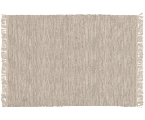 Dywan z bawełny Dag, Bawełna, Jasny beżowy, S 140 x D 200 cm