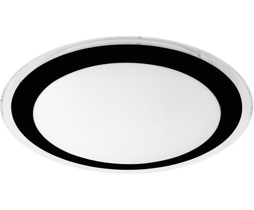 Plafonnier rond LED Competa, Noir, blanc