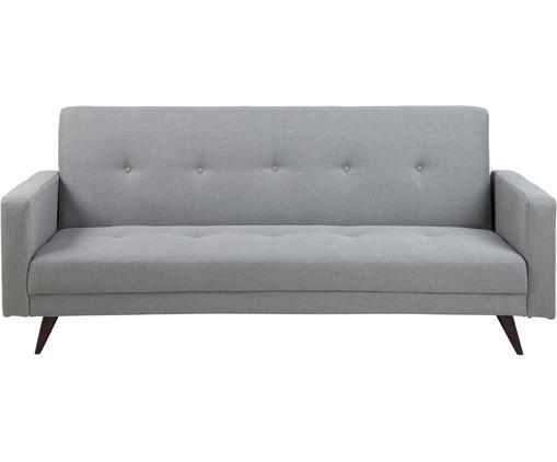 Schlafsofa Leconi (3-Sitzer), Bezug: Polyester, Beine: Gummibaumholz, lackiert, Webstoff Hellgrau, B 217 x T 89 cm