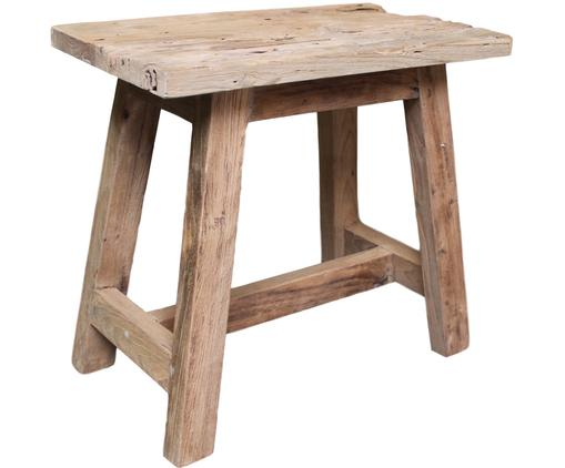 Stołek z drewna tekowego Lawas, Naturalne drewno tekowe, Drewno tekowe, S 50 x W 46 cm