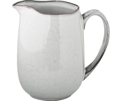 Ręcznie wykonany dzbanek do mleka Nordic Sand, Kamionka, Piaskowy, S 17 x W 16 cm