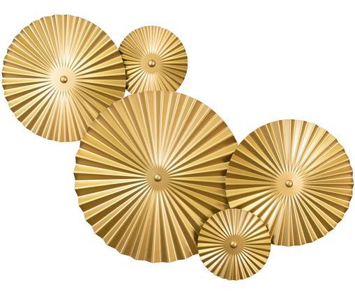 Design-Wandleuchte Omega mit Stecker, Leuchte: Metall, vermessingt, Messing, 70 x 55 cm