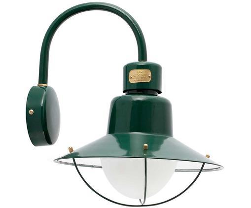 Design-Außenwandleuchte Newport, Leuchte: Messing, lackiert, Grün, 28 x 40 cm