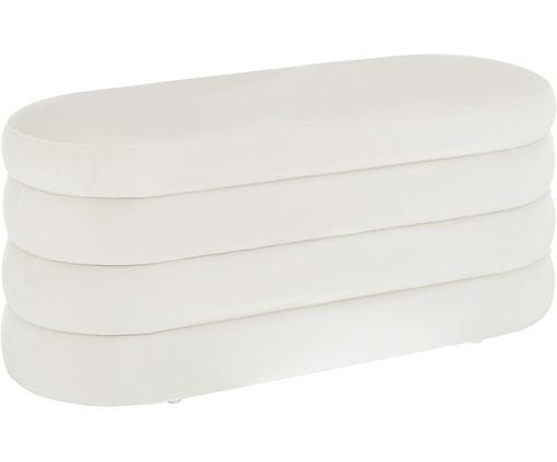 Sametová lavice Alto, Krémově bílá