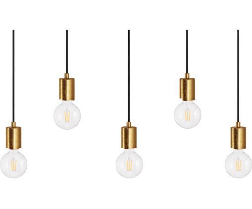 Lampa wisząca Cero 5, Złoty, czarny, Ø 55 x W 142 cm