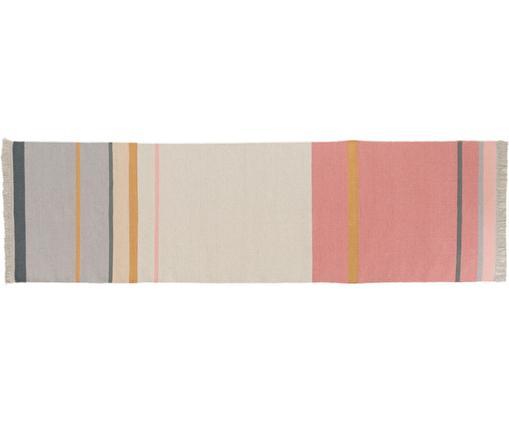 Passatoia in lana tessuta a mano Metallum, Multicolore, Larg. 80 x Lung. 280 cm