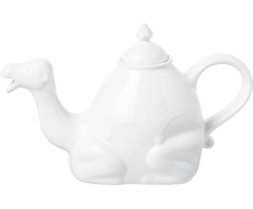 Teekanne Arabian Camel, Keramik, Weiß, 16 x 27 cm