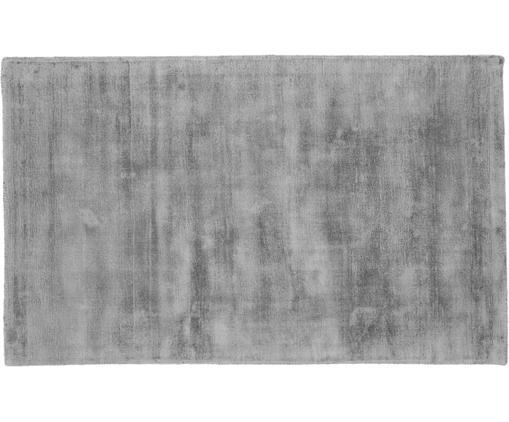 Handgewebter Viskoseteppich Jane in Grau, Flor: 100% Viskose, Grau, B 90 x L 150 cm (Größe XS)