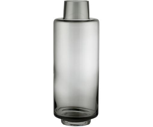 Mondgeblazen vaas Hedria, groot, Glas, Fumé, Ø 11 x H 30 cm