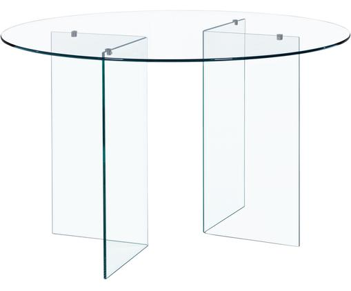 Table ronde en verre Iride, Transparent