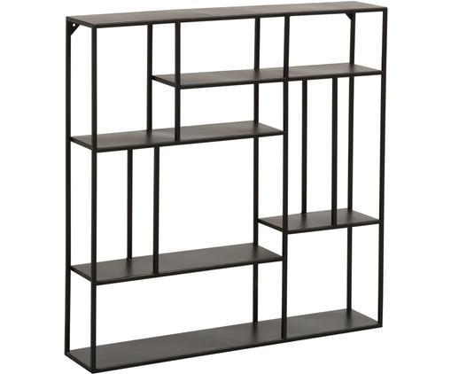 Półka ścienna z metalu Angle, Metal malowany proszkowo, Czarny, S 80 x W 80 cm