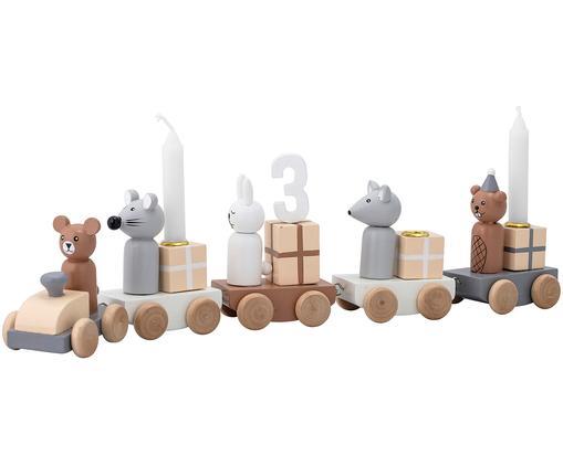 Deko-Objekt Birthday, Mitteldichte Holzfaserplatte, Mehrfarbig, 38 x 11 cm