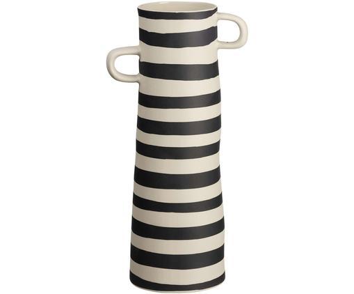 Vaso fatto a mano Rayu, Terracotta, Nero, beige, Ø 10 x Alt. 28 cm