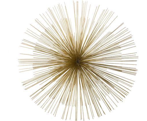 Wandobjekt Ray, Metall, Goldfarben, Ø 80 cm