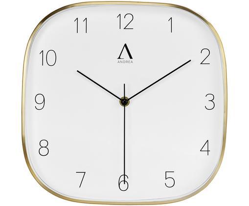 Zegar ścienny Guell, Odcienie mosiądzu, czarny, biały, S 29 x W 29 cm