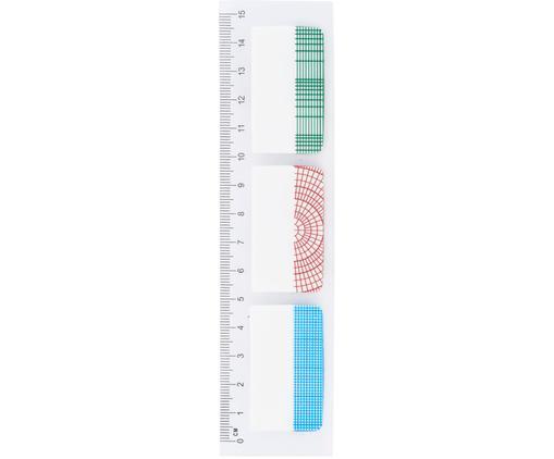 Lineal Geometric, Kunststoff, Mehrfarbig, 4 x 15 cm
