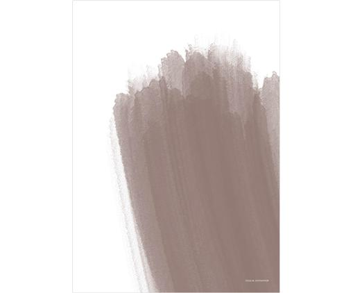 Póster Paint No. 2, Blanco, beige