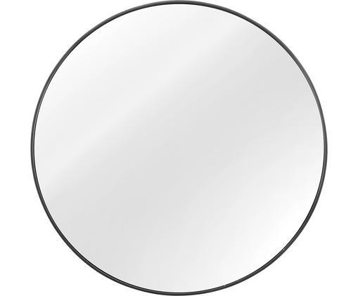 Specchio da parete rotondo Ada, Cornice: metallo zincato, Superficie dello specchio: lastra di vetro, Retro: pannello di fibra a media, Grigio scuro, Ø 60 cm