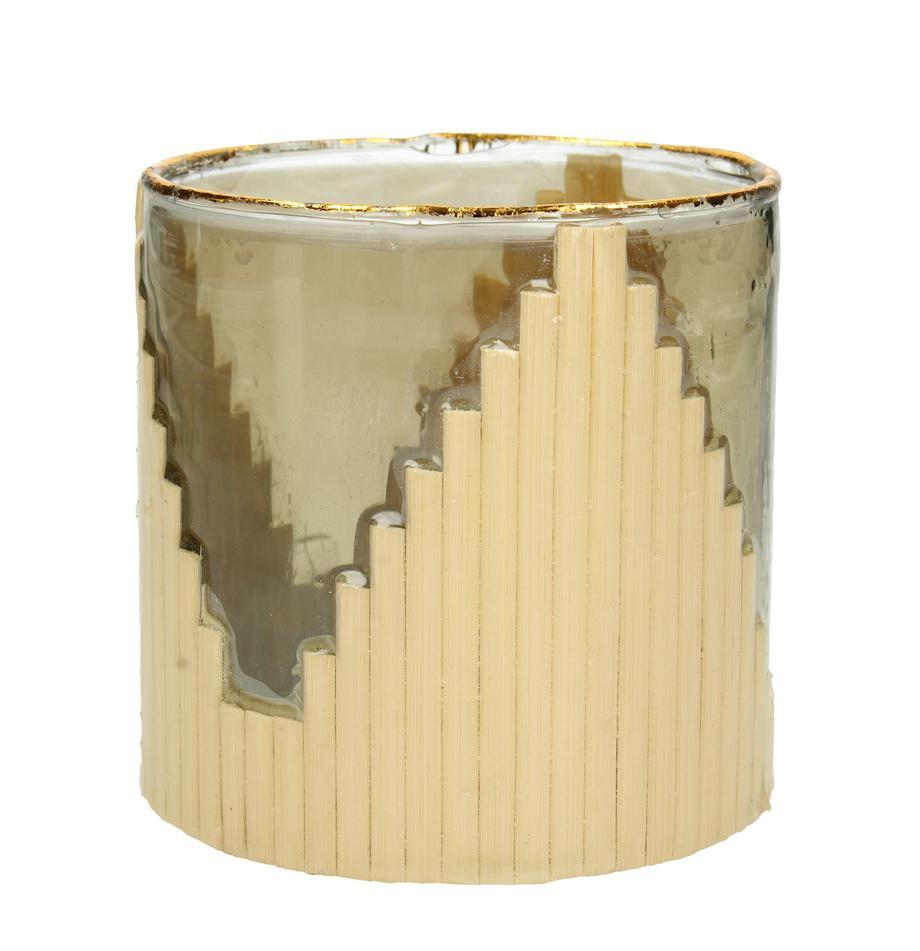 Portavelas Bixbite, Vaso, Tonos beige, dorado, Ø 10 x Al 11 cm