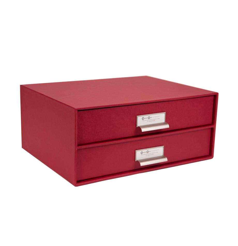 Organizador de escritorio Birger, Organizador: cartón laminado, Rojo oscuro, An 33 x Al 15 cm