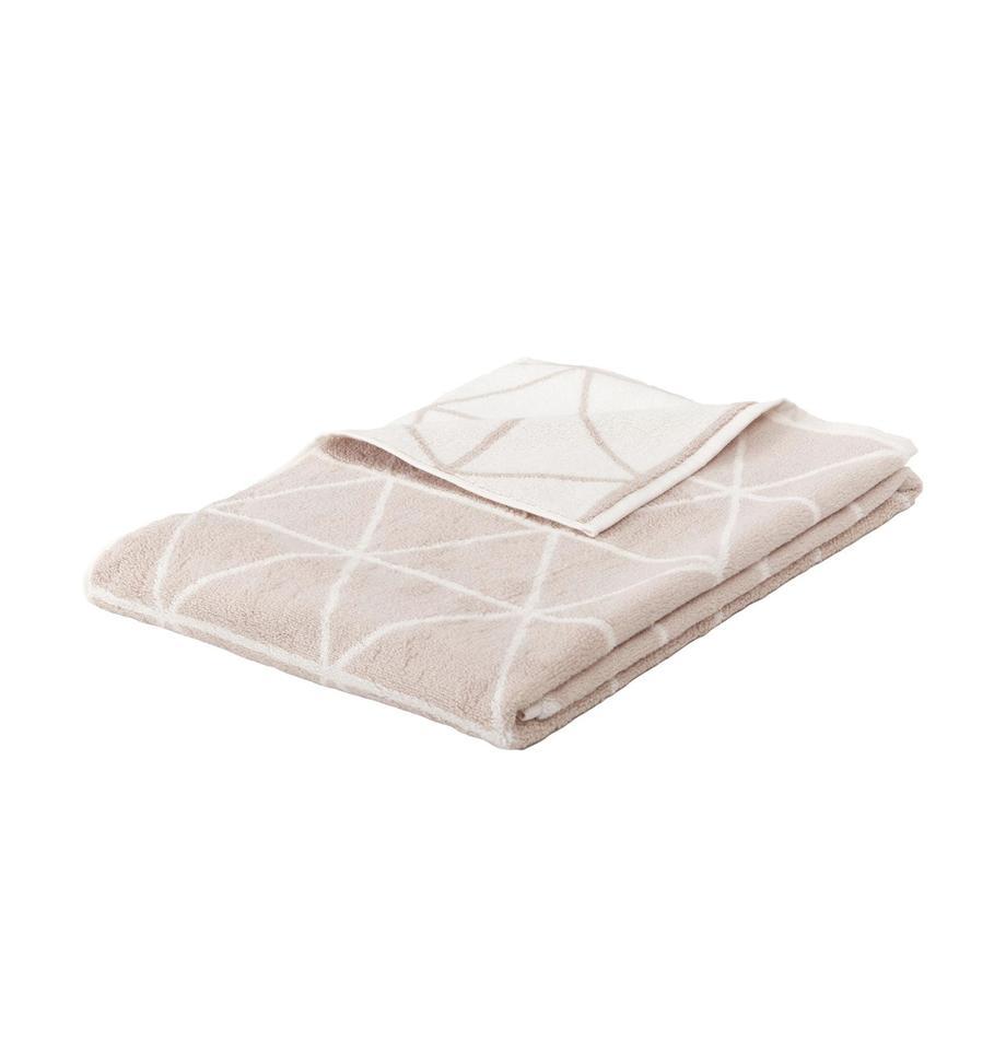 Dwustronny ręcznik Elina, Odcienie piaskowego, kremowobiały, Ręcznik dla gości