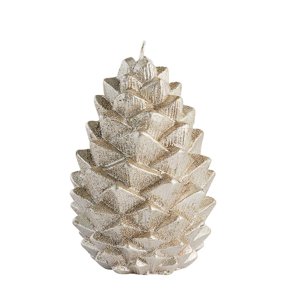Kerze Nordic Pine, Paraffinwachs, Goldfarben, Ø 9 x H 12 cm