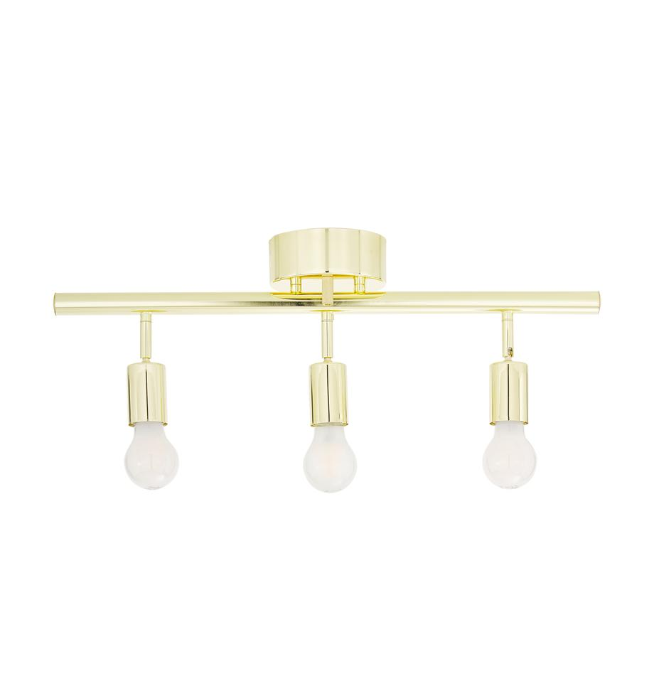 Plafondlamp Row, Gelakt messing, Messingkleurig, 60 x 40 cm