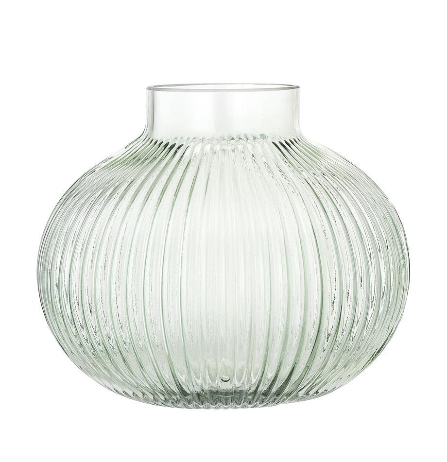 Mały wazon Gola, Szkło, Jasny zielony, transparentny, Ø 16 x W 15 cm