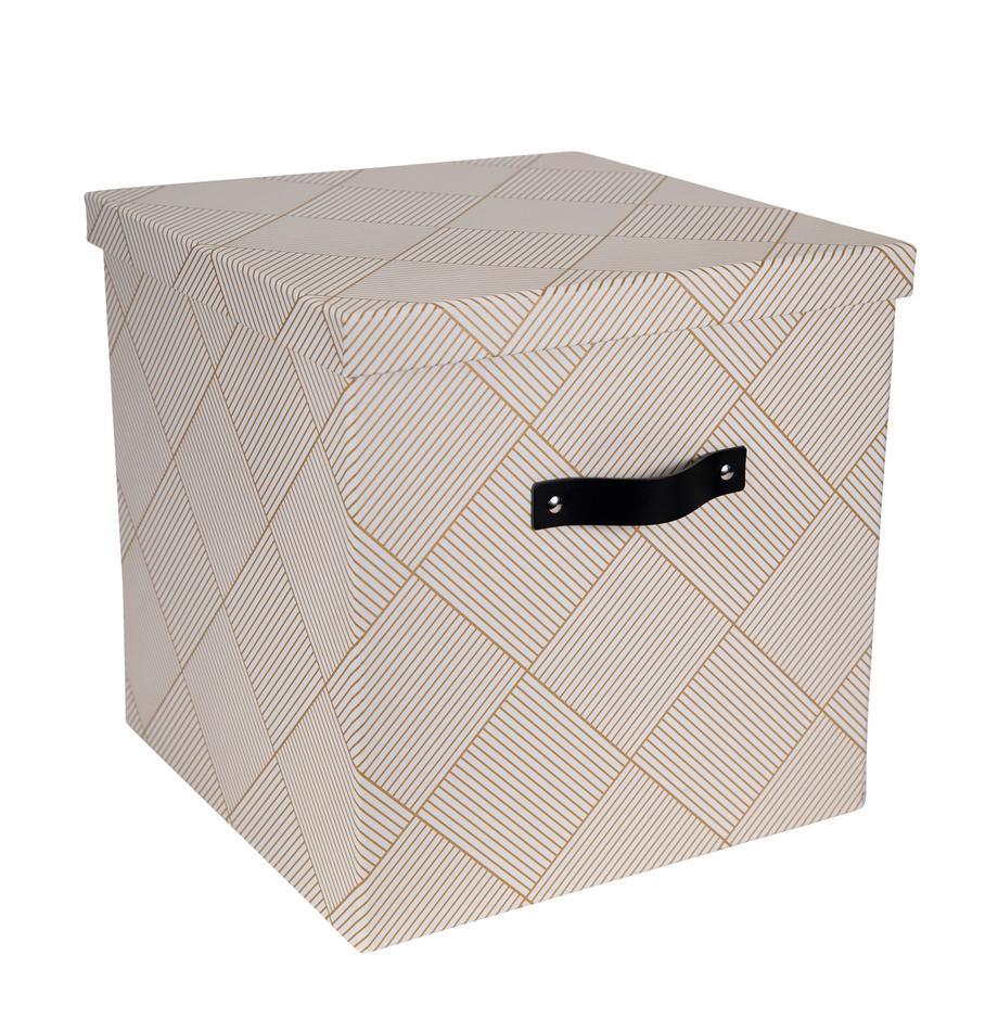 Caja Texas, Caja: cartón laminado, Dorado, blanco, An 32 x Al 31 cm