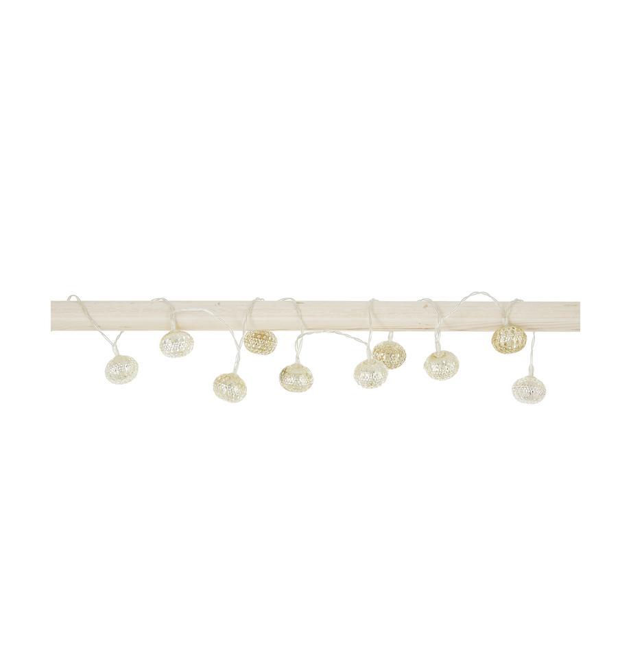 LED-Lichterkette June, 140 cm, Aluminium, Silberfarben, L 140 cm
