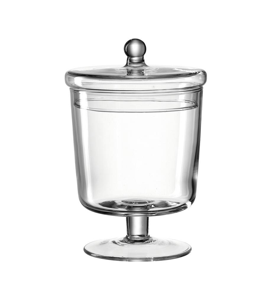 Ręcznie wykonany pojemnik do przechowywania Poesia, Szklanka, Transparentny, Ø 13 x W 19 cm
