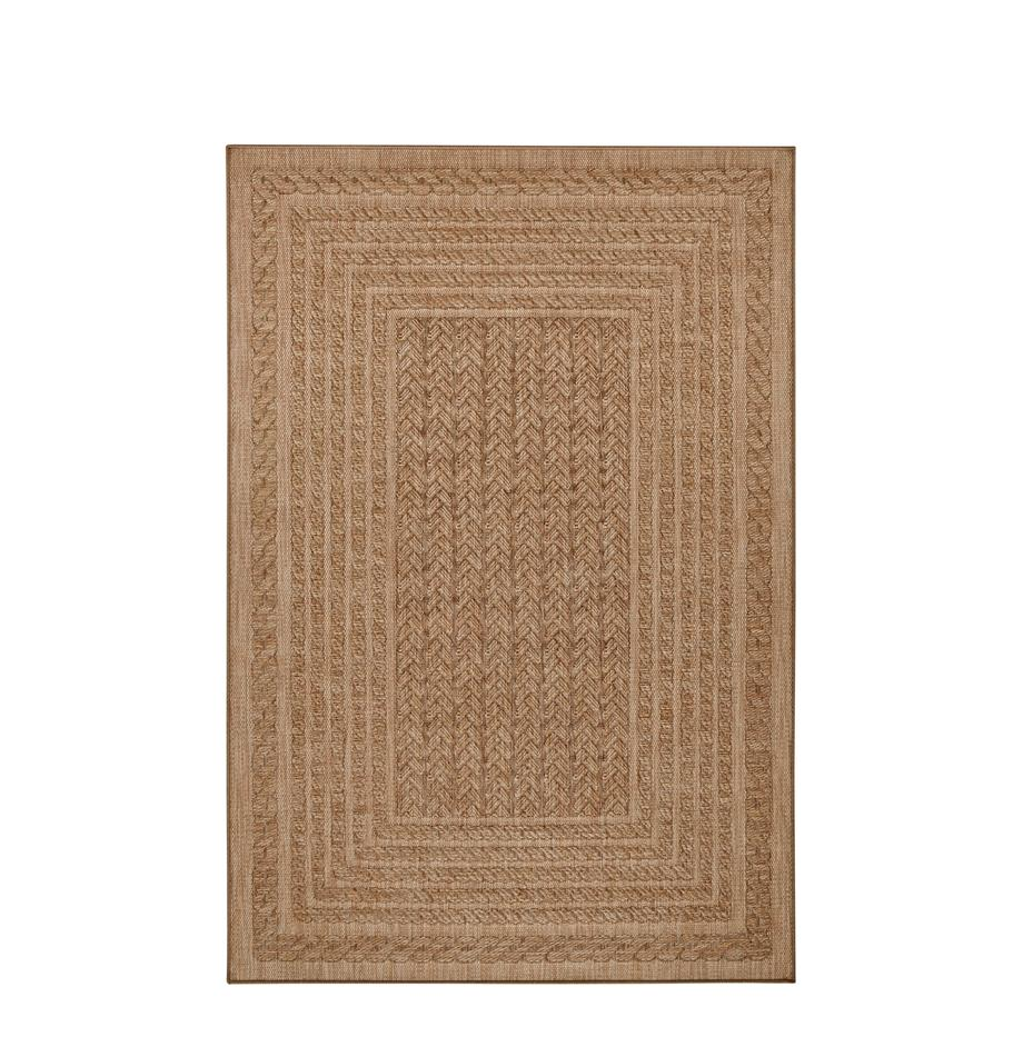 Alfombra de interior/exterior Limonero, 100%polipropileno, Beige, marrón, An 120 x L 170 cm (Tamaño S)