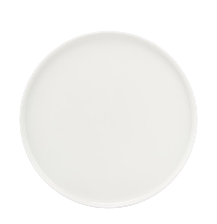 Talerz śniadaniowy Oco, 6 szt., Porcelana chińska, Biały, Ø 21 cm