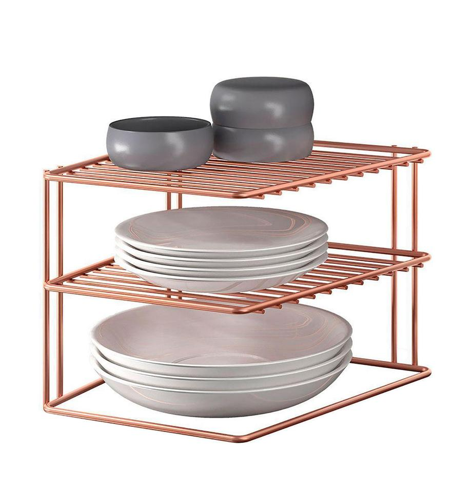Estante de cocina Palio, Metal recubierto, Bronce, An 25 x Al 19 cm