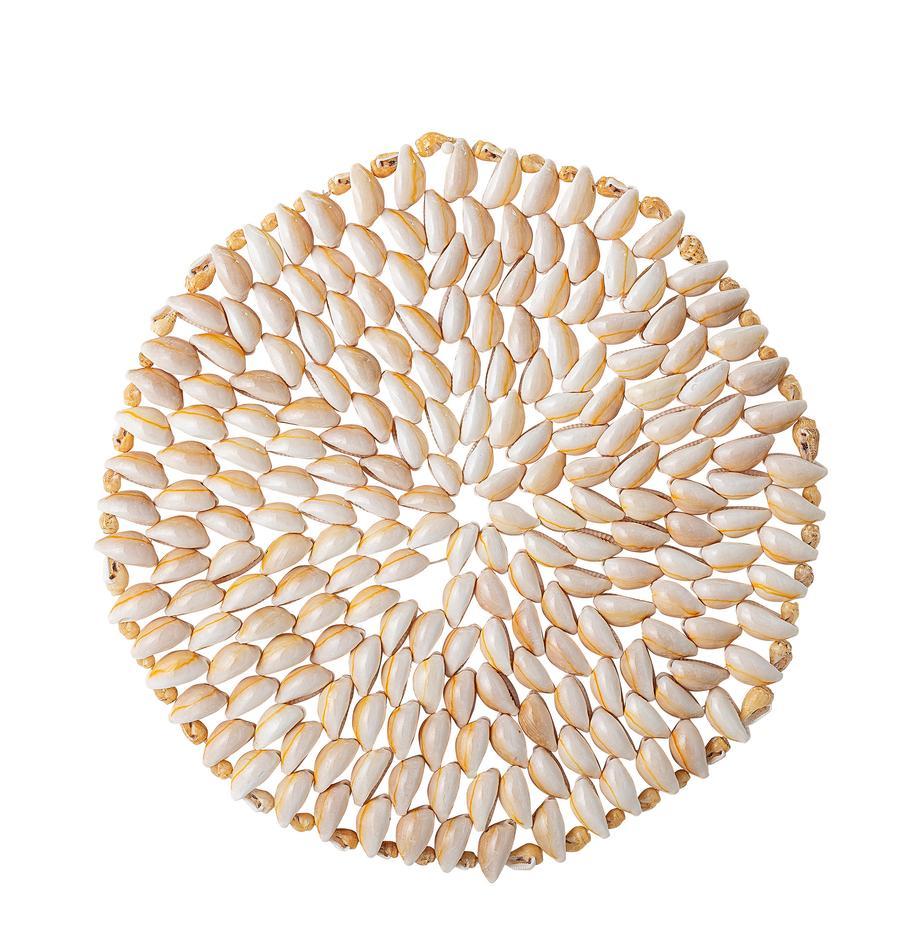 Muschel-Tischset Subbi, Muschel, Beige, Weiß, Ø 20 cm