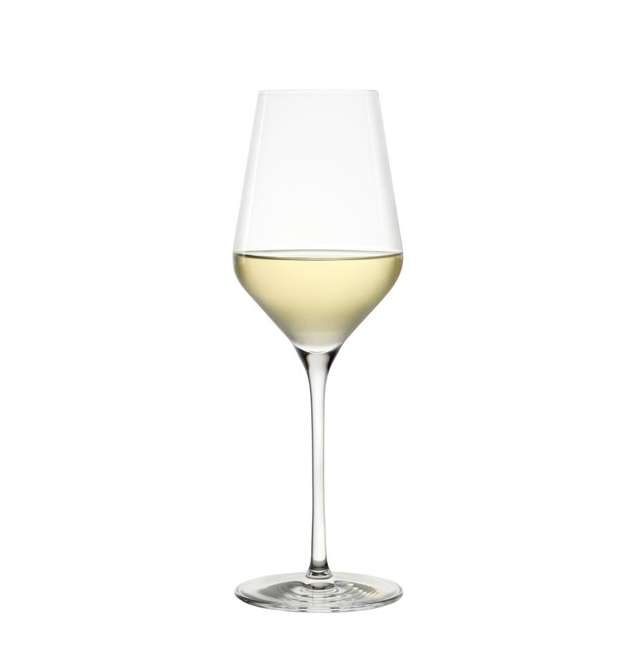 Kryształowy kieliszek do białego wina Quatrophil, 6 szt., Szkło kryształowe, Transparentny, Ø 8 x W 25 cm