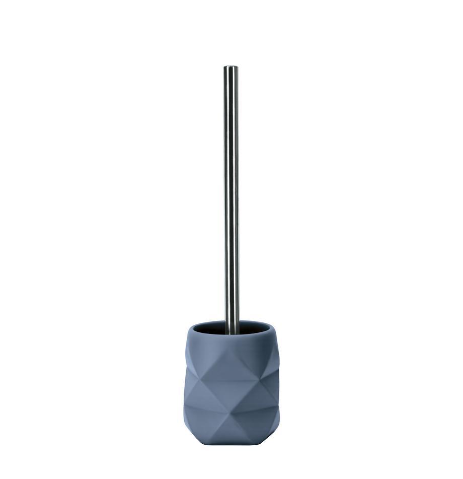 Szczotka toaletowa z poliresingu Crackle, Niebieski, Ø 11 x W 39 cm