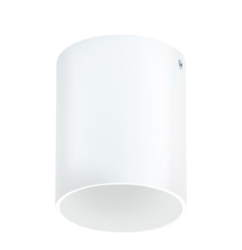 Faretto da soffitto a LED Marty, Baldacchino: metallo verniciato a polv, Bianco opaco, Ø 10 x Alt. 12 cm