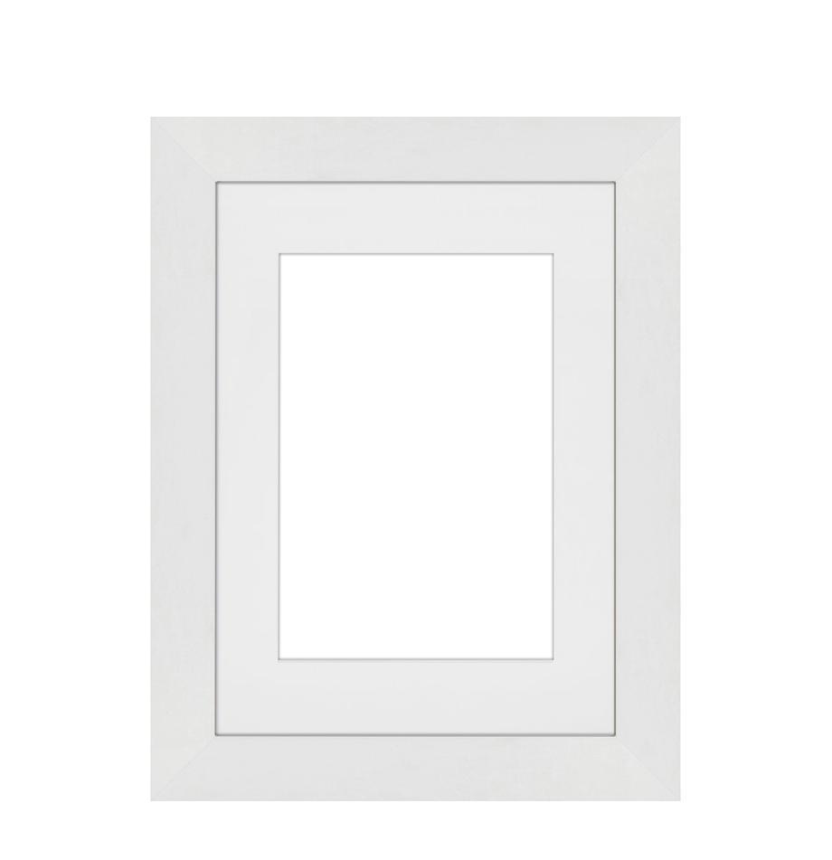 Fotolijstje Apollon, Lijst: gelakt Monterey-grenenhou, Wit, 13 x 18 cm