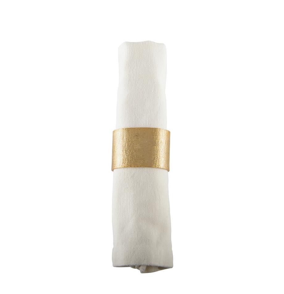 Serviettenringe Simple, 4 Stück, Aluminium, beschichtet, Goldfarben, gebürstet, 4 x 5 cm