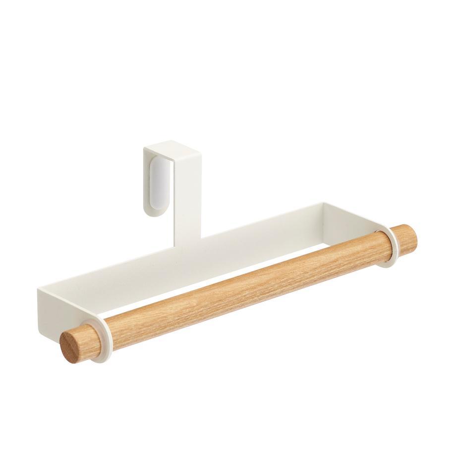 Toallero Tosca, Fijación: acero recubierto, Blanco, madera, An 19 x Al 6 cm