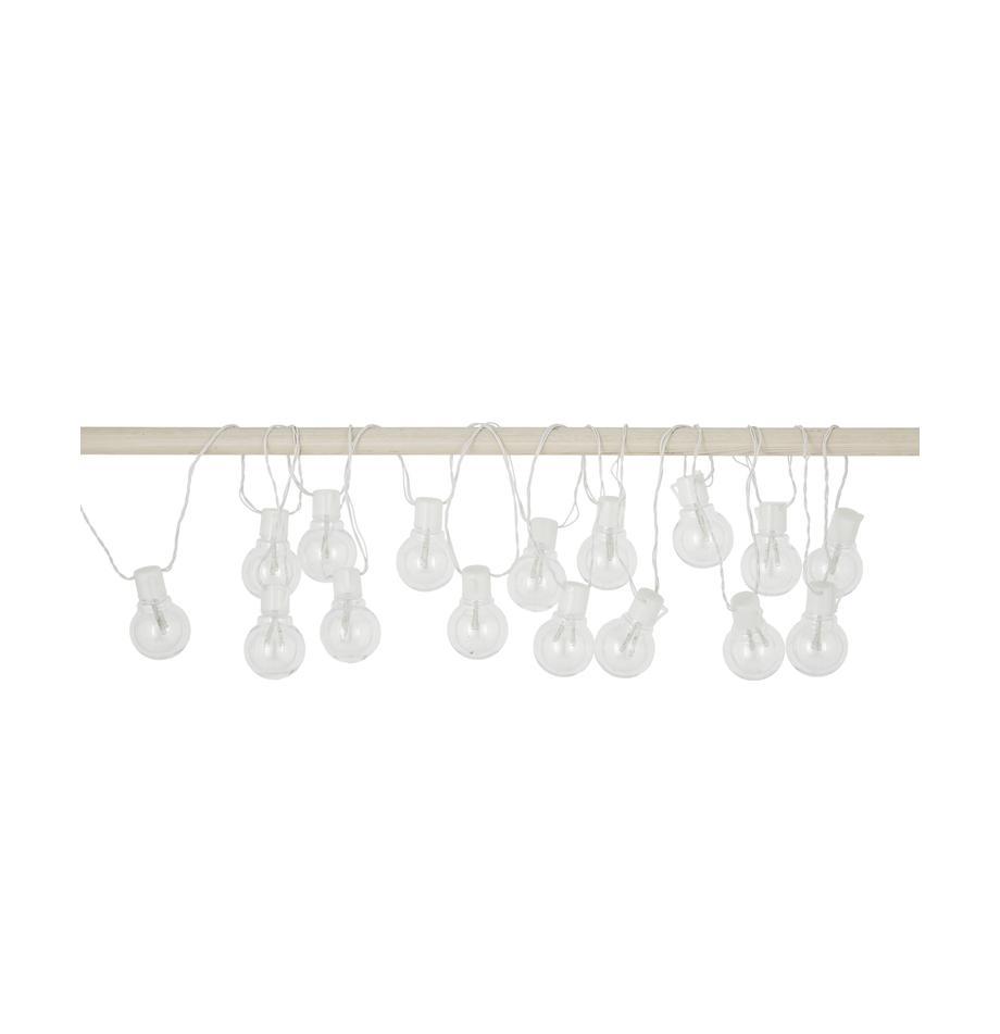 LED-lichtslinger Partaj, 950 cm, Lampions: kunststof, Wit, L 950 cm